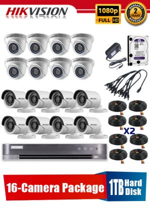 Hikvision 1080P 16-Camera CCTV Package with 1TB Hard Disk