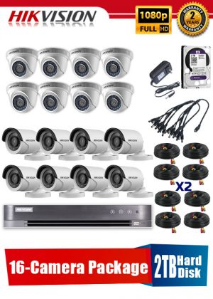 Hikvision 1080P 16-Camera CCTV Package with 2TB Hard Disk