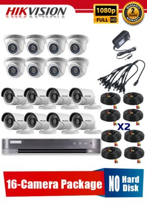Hikvision 1080P 16-Camera CCTV Package No Hard Disk