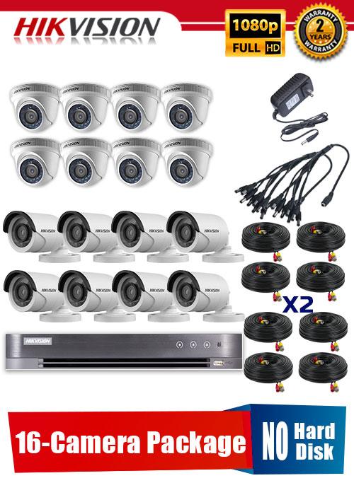 Hikvision 1080P 16-Camera CCTV Package No Hard Disk