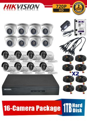 Hikvision 720P 16-Camera CCTV Package with 1TB Hard Disk