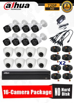 Dahua 720P 16-Camera CCTV Package No Hard Disk