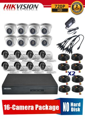 Hikvision 720P 16-Camera CCTV Package No Hard Disk