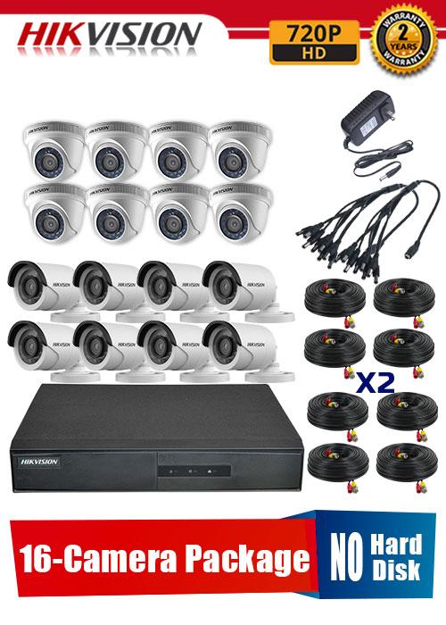 Hikvision 720P 16-Camera CCTV Package No Hard Disk