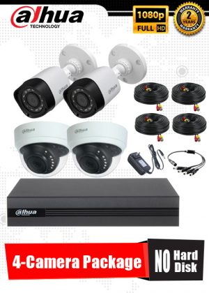 Dahua 1080P 4-Camera CCTV Package No Hard Disk