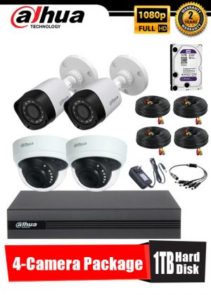 Dahua 1080P 4-Camera CCTV Package with 1TB Hard Disk