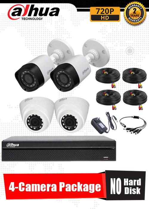 Dahua 720P 4-Camera CCTV Package No Hard Disk