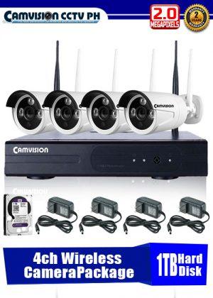 CCTV Wireless 4-Camera NVR Package