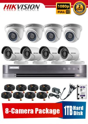 Hikvision 1080P 8-Camera CCTV Package with 1TB Hard Disk
