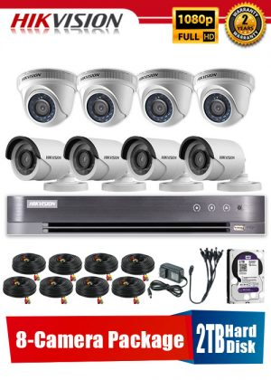 Hikvision 1080P 8-Camera CCTV Package with 2TB Hard Disk