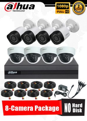 Dahua 1080P 8-Camera CCTV Package No Hard Disk
