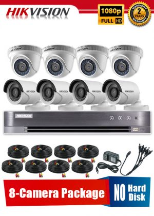 Hikvision 1080P 8-Camera CCTV Package No Hard Disk