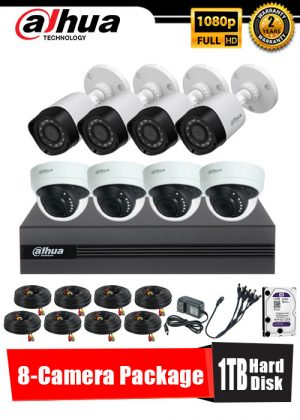 Dahua 1080P 8-Camera CCTV Package with 1TB Hard Disk
