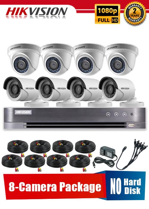 Hikvision 1080P 8-Camera CCTV Package No Hard Disk