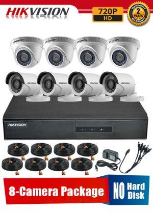Hikvision 720P 8-Camera CCTV Package No Hard Disk