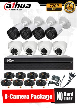 Dahua 720P 8-Camera CCTV Package No Hard Disk