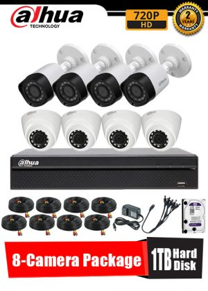 Dahua 720P 8-Camera CCTV Package with 1TB Hard Disk