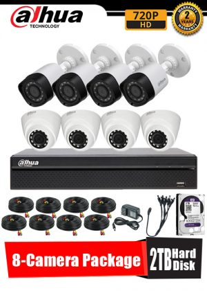 Dahua 720P 8-Camera CCTV Package with 2TB Hard Disk