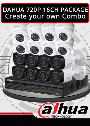 Dahua 1MP 720P 16CH CCTV Package - Create your own Combo