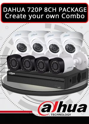 Dahua 1MP 720P 8CH CCTV Package - Create your own combo