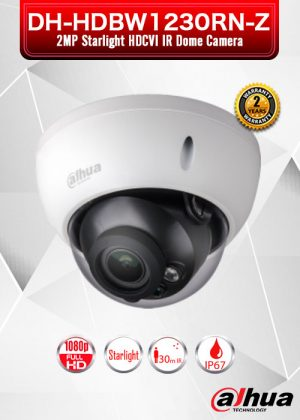 Dahua 2MP Starlight HDCVI IR Dome Camera / DH-HDBW1230RN-Z