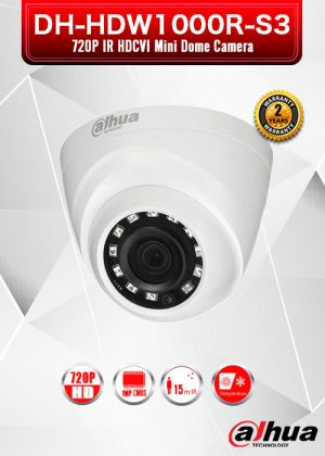 Dahua 1MP 720P IR HDCVI Mini Dome Camera - DH-HAC-HDW1000R