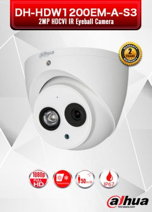 Dahua 2MP HDCVI IR Eyeball Camera - DH-HAC-HDW1200EM-S3