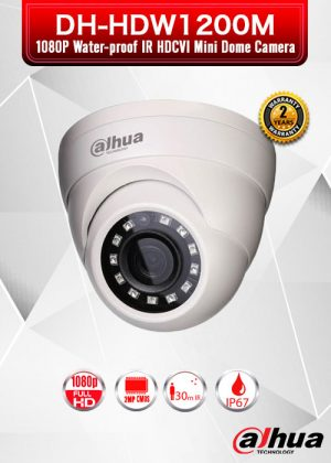 Dahua 2MP 1080P Water-proof IR HDCVI Mini Dome Camera - DH-HAC-HDW1200M