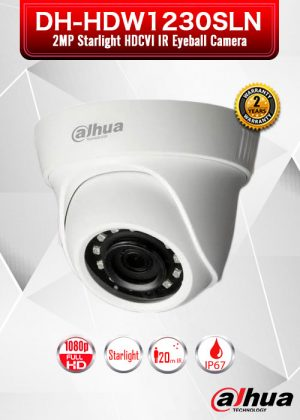 Dahua 2MP Starlight HDCVI IR Eyeball Camera / DH-HDW1230SLN