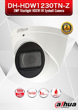 Dahua 2MP Starlight HDCVI IR Eyeball Camera / DH-HDW1230TN-Z