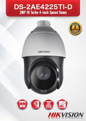 Hikvision 2MP IR Turbo 4-Inch Speed Dome - DS-2AE4225TI-D