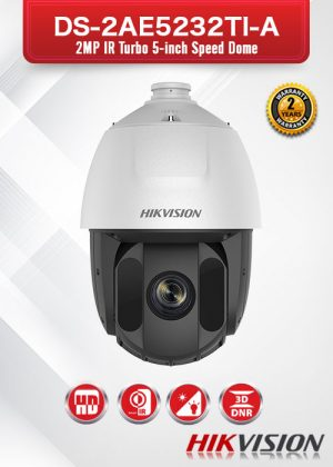Hikvision 2 MP IR Turbo 5-Inch Speed Dome - DS-2AE5232TI-A