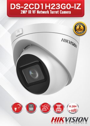 Hikvision 2MP IR VF Network Turret Camera - DS-2CD1H23G0-IZ