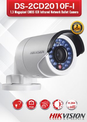 Hikvision 1.3MP IR Mini Bullet Camera - DS-2CD2010F-I