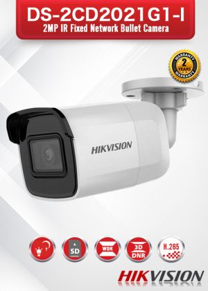 Hikvision 2MP IR Fixed Network Bullet Camera - DS-2CD2021G1-I