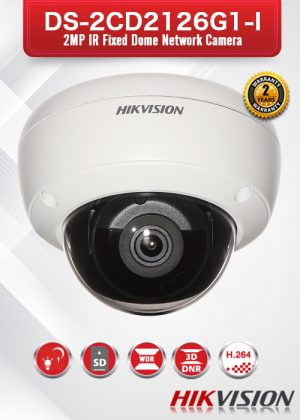 Hikvision 2MP IR Fixed Dome Network Camera - DS-2CD2126G1-I