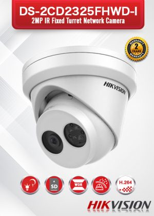 Hikvision 2MP IR Fixed Turret Network Camera - DS-2CD2325FHWD-I