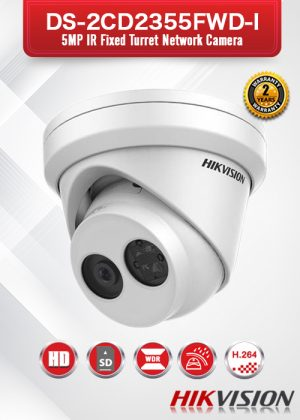 Hikvision 5MP IR Fixed Turret Network Camera - DS-2CD2355FWD-I