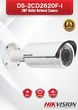 Hikvision 2MP Varifocal IR Bullet Camera - DS-2CD2620F-I