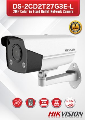 Hikvision 2MP ColorVu Fixed Bullet Network Camera - DS-2CD2T27G3E-L