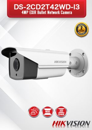 Hikvision 4MP EXIR Network Bullet Camera - DS-2CD2T42WD-I3
