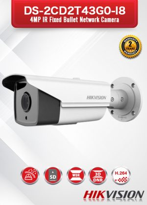 Hikvision 4MP IR Fixed Bullet Network Camera - DS-2CD2T43G0-I8