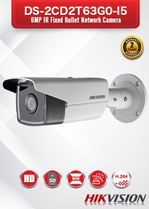 Hikvision 6MP IR Fixed Bullet Network Camera - DS-2CD2T63G0-I5