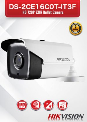 Hikvision HD720P EXIR Bullet Camera - DS-2CE16C0T-IT3F