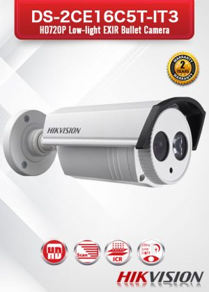 Hikvision HD 720P Low-light EXIR Bullet Camera - DS-2CE16C5T-IT3