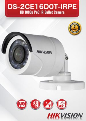 Hikvision 2MP POC Bullet Camera - DS-2CE16D0T-IRPE