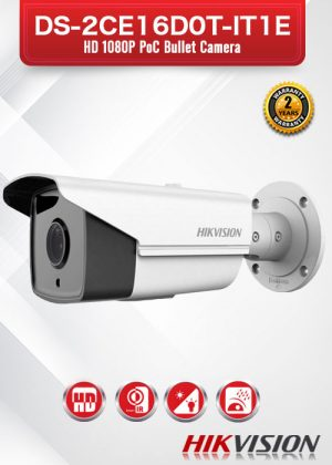 Hikvision HD1080P POC Buller Camera - DS-2CE16D0T-IT1E