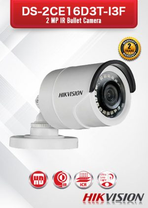 Hikvision 2MP IR Bullet Camera - DS-2CE16D3T-I3F