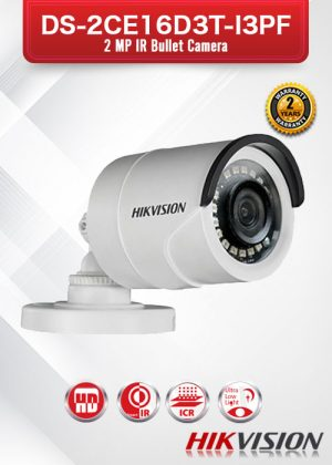 Hikvision 2MP IR Bullet Camera - DS-2CE16D3T-I3PF