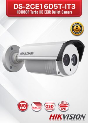 Hikvision HD1080p Turbo HD EXIR Bullet Camera - DS-2CE16D5T-IT3
